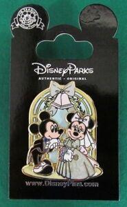 Disney Pin Mickey & Minnie Mouse Wedding Archway Bride & Groom 3D