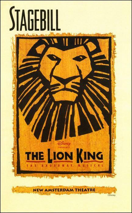 The Lion King Playbill Heather Headley Samuel E. Wright  Tom Hewitt  Bill Bowers