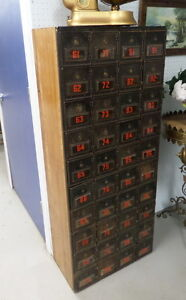 Antique Post Office Mail Boxes - BLUE JAR Antique Mall