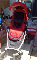 Britax B-Ready double Stroller with Bassinet