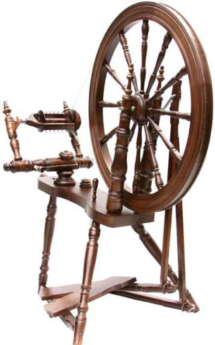 Kromski Symphony Walnut Spinning Wheel Jumbo Flyer Kit BONUS Free Ship B/O