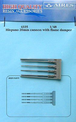 Aires 1/48 Hispano 20mm Cannons with Flame Dampers 4335