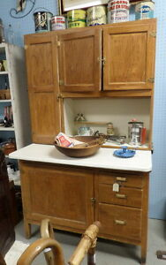 Antique Wooden Hoosier Kitchen Cupboard - Blue Jar Antique Mall Edmonton Edmonton Area image 1