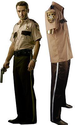 The Walking Dead Rick Grimes Sheriff Uniform Halloween cosplay costume xmas - Rick Halloween Costume Walking Dead