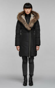 Mackage Trish fitted winter down coat with fur-lined hood