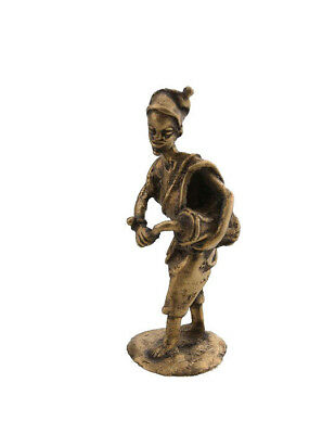 Statue Musician in Brass Player of Djembe Tama Art and Bronze African AA796
