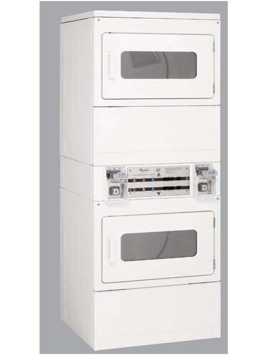 Whirlpool Coin Op Stack Electric Dryer Csp2860tq Ebay