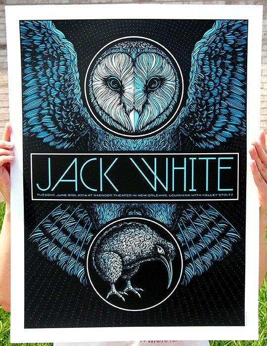 Jack White Stripes Poster New Orleans LA Signed & Numbered #/222 Todd Slater