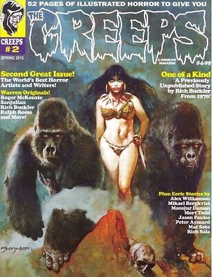 THE CREEPS MAGAZINE  #2 - EERIE COMICS TO MAKE YOU FEEL CREEPY - CRYPT - VAMPIRE