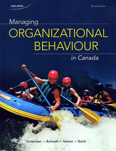 MANAGING ORGANIZATIONAL BEHAVIOUR IN CANADA (Second Edition)