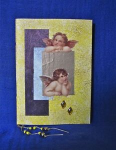 'Raphaels' Angels' Handmade Paper in Yellow and Gold Notebook Clifton Beach Cairns City Preview