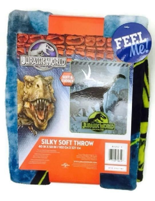 Dinosaur Jurassic World Silky Soft Throw