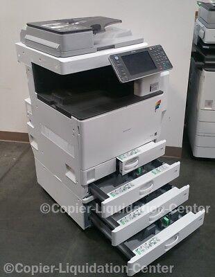 Ricoh Aficio Mp C3002 Color Tabloid Copier Print Scan Duplex Usb 30 Ppm W