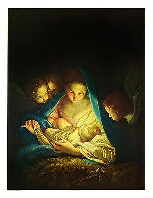 Carlo Maratta Poster Kunstdruck Bild Die heilige Nacht 83x63