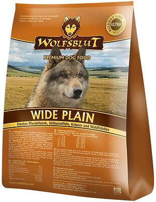 Wolfsblut Wide Plain 15 kg Hundefutter Trockenfutter mit Pferd