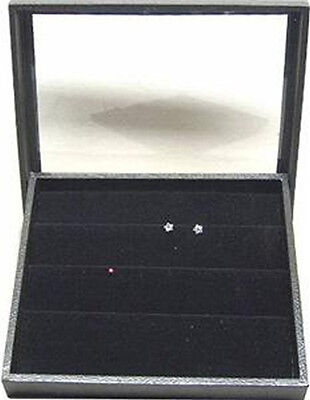 Clear Top Jewelry Display Case Box W Earring