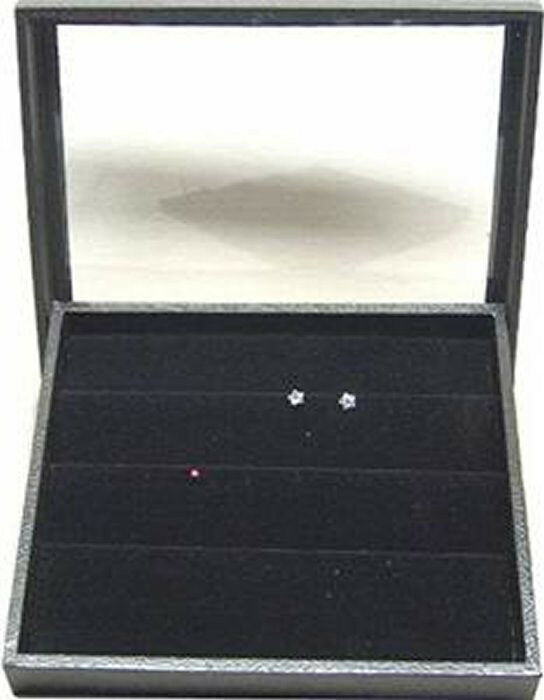 CLEAR  TOP JEWELRY DISPLAY CASE BOX W/ EARRING