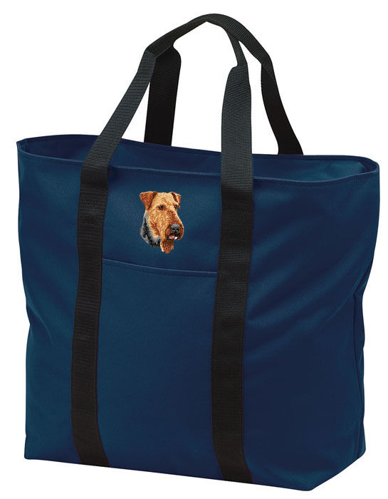 Airedale Terrier Embroidered All Purpose Tote