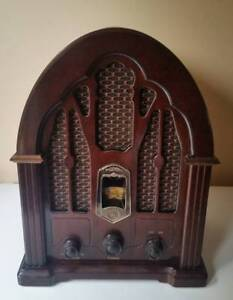 Vintage cathedral style radio