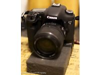CANON EOS 7D DSLR AND GRIP WITH CANON 15-85MM IS USM LENS
