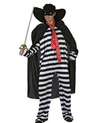 Kostüm Sträfling Sträflingskostüm Zorro Faschingskostüm Herren Knastbruder - Herren Zorro Kostüme
