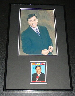 Bob Costas Signed Framed 11X17 Photo Display Sunday Night Football