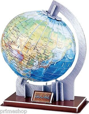 3D Puzzle Welt Globus 47 Teile 69 x 17 x 32 cm Neu