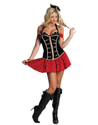 Lizensiert Playboy Hochsee Piraten Nackenband Korsett Sexy Halloween Kostüm Set
