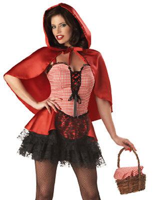 Sexy Gothik Rotkäppchen Übergröße Erwachsene Halloween Kostüm XL