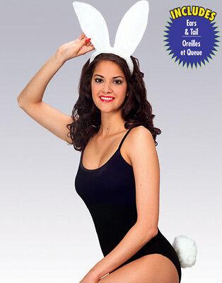 Weiß Häschen Ohren und Schwanz Damen Halloween Cosplay Sexy Kostüm Zubehör ()