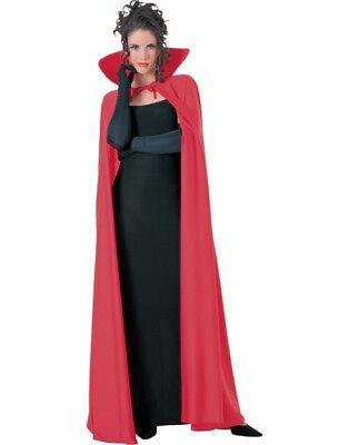 Red Full Length Cape Cloak Royal King Queen Vampire Long Hallowee