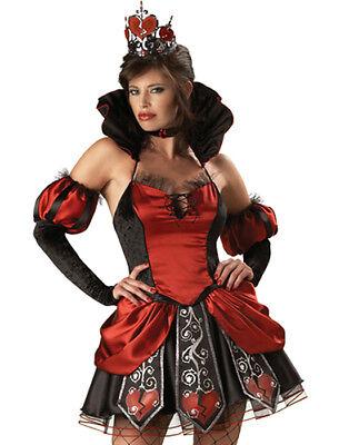 Gothic Alice In Wonderland Red Queen Of Broken Hearts Halloween Costume Xs - Gothic Alice In Wonderland Costume