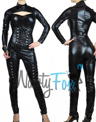 Sexy Gothic Black Bodysuit Catsuit Cat Woman Womens - Sexy Black Cat Kostüme