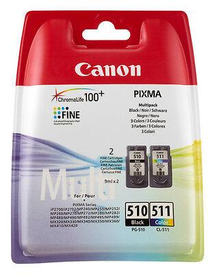 CANON ORIGINAL PG510 CL511 DRUCKER PATRONE PIXMA MP250 MP280 MP495 MP270 MP490 online kaufen