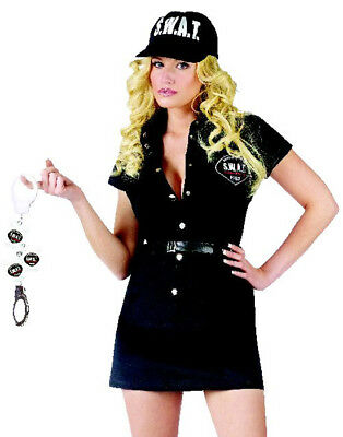 Swat Patrol Officer Halloween Costume (Sexy S.W.A.T.(Swat) Black Sheriff Police Officer Halloween Costume)