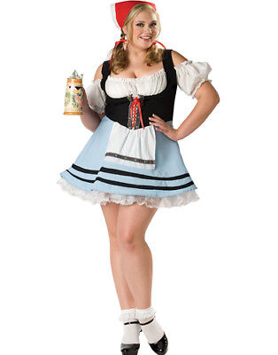 Sexy Oktoberfest German Beer Maid Girl Plus Size Halloween Costume 2Xl](Plus Size Beer Girl Costume)