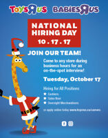 NATIONAL HIRING DAY - TOYS R US!