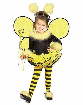 Cute Bumble Bee Costumes (Girls Yellow Honey Bumble Bee Cute Toddler Kids Halloween Costume Set)