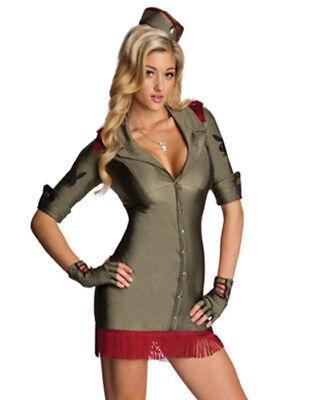 Lizensiert Playboy Sexbombe Militär Armee Mädchen Sexy Damen Halloween (Halloween Kostüme Armee)