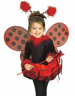 Ladybug Halloween Costumes (Young Girls Red Deluxe Cute Ladybug Kids Halloween Costume Wings Set)
