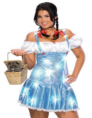 Übergröße Zauberer Von OZ Dorothy Blau Pailletten Schulterfrei - Dorothy Halloween Kostüm