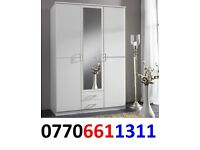 WARDROBES WHITE NEW 3 DOOR 2 DRAW ROBES 5 ONLY LEFT BLACK FRIDAY SALE