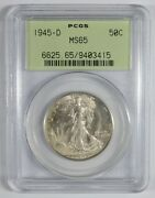 Walking Liberty Half PCGS MS65