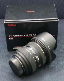 Nikon Fit - Sigma 24-70mm 2.8 (Unwanted Christmas Present)
