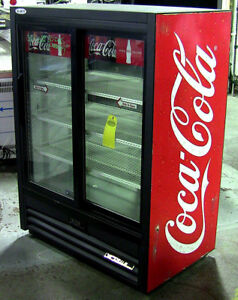 True Double Service Sliding Glass Door Fridge - Refurbished