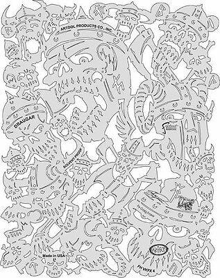 Artool Freehand Viking FX Craig Fraser Airbrush Stencil Template Iwata Draugar