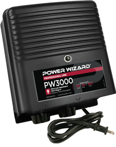 PW3000 Power Wizard Fence Energizer / 3 year manufacturer warranty