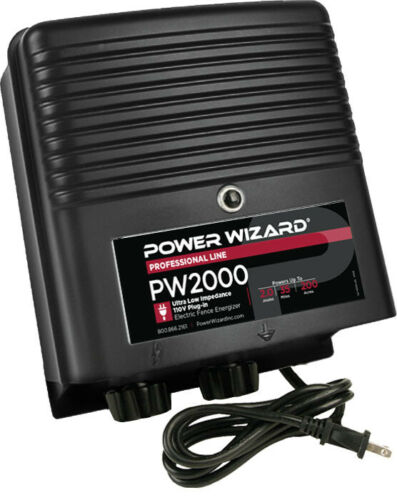 PW2000 Power Wizard Fence Energizer / 3 year manufacturer warranty