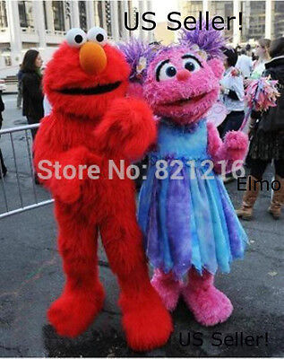 NEW~Elmo Mascot Costume Sesame Street Character Red Kids Party Fancy-US Seller!](Elmo Costume Kids)