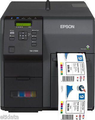 Epson Drucker Cutter (Etiketten Drucker Epson TM-C7500G Cutter Display USB Ethernet C31CD84312)